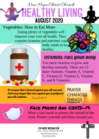 Health & Wellness Church newsletter A6 template