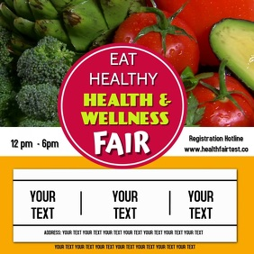 Health & wellness tair template