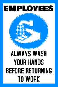 Health & Safety In The Workplace - Wash Your Hands Template