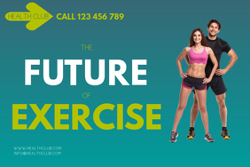 health AND FITNESS FLYER Cartel de 4 × 6 pulg. template