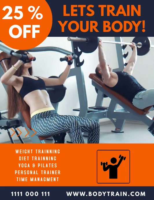 health and fitness flyer