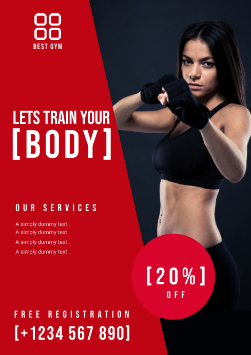 HEALTH AND FITNESS FLYER template