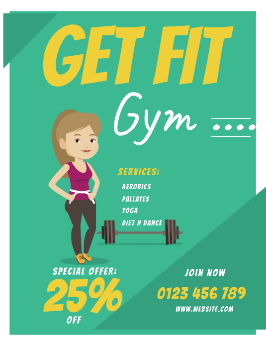 health and fitness GYM FLYERS template
