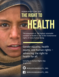 Health and Gender Equality Human Rights Poster