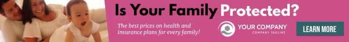 Health and life insurance banner ad template Papan Peringkat