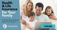 Health and Life insurance facebook template