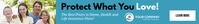 Health and life insurance youtube banner ad Tabla de posiciones template