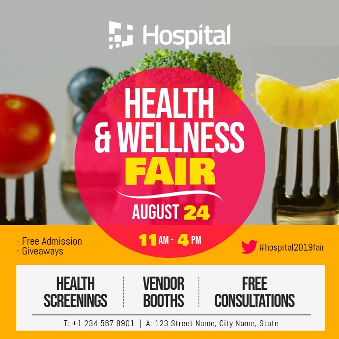 Health and Wellness Fair Square Video