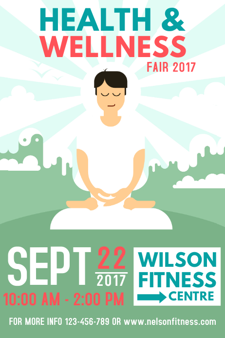 Event Flyer Templates | PosterMyWall |Wellness Day Event Flyers