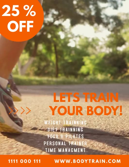 health and workout flyer tempalte