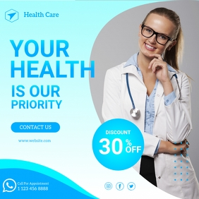 Health Care, medical Care Banner Template Instagram Post