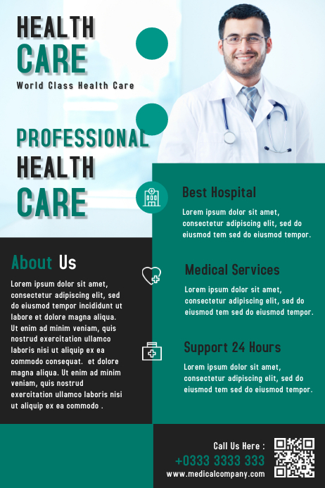 Health Care Business Flyer & Brochure Template Design