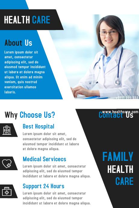 Health Care Flyer & Brochure Design Template