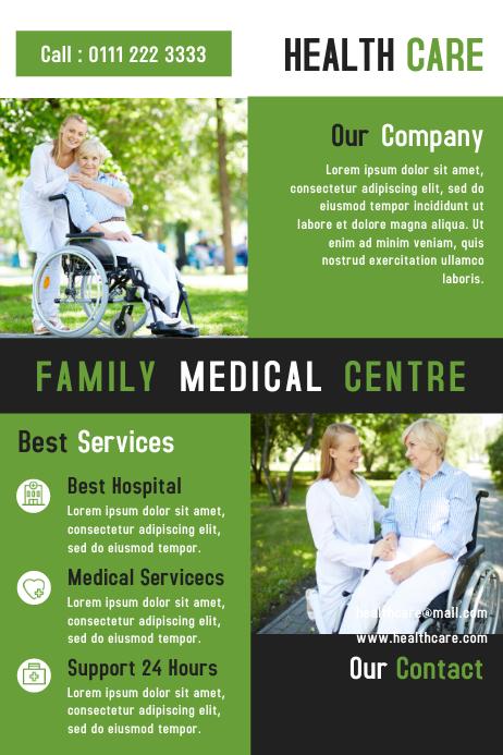 Health Care Flyer & Brochure Template Design