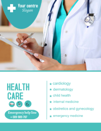 Health care flyer template