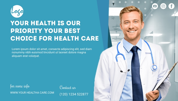 health care service blog header post ส่วนหัวบล็อก template