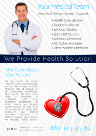 Health Care Service Flyer A4 template