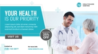Health Care Services Banner Twitter Post template