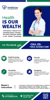 Health Care services flyer Roll Up Banner 3' × 6' template