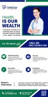 Health Care services flyer Ibhana Eligoqekela Phezulu 3' × 6' template