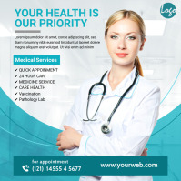 Health Care Social Media Ad Persegi (1:1) template