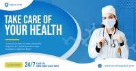 Health Care Twitter Post Template Image partagée Facebook