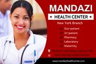 Health center Banner 4' × 6' template