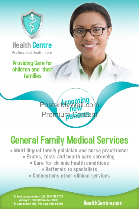 nurses week flyer templates - health centre poster template postermywall