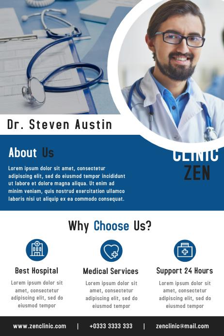 Health Clinic Business Flyer & Brochure Template Design
