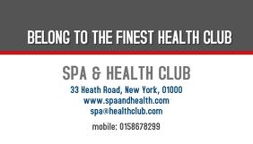 health club business card