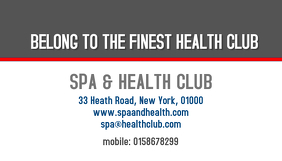 health club business card