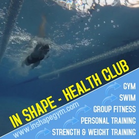 health club Instagram Plasing template