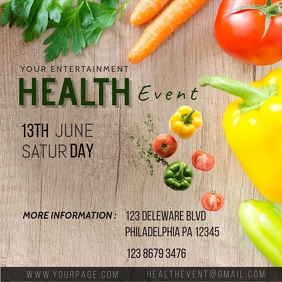 Health Event Instagram Plasing template