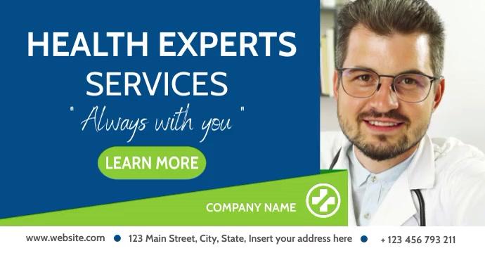 Health expert services facebook advertising b template
