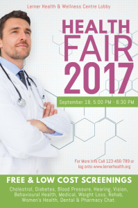 Health Fair 2017 Poster Template