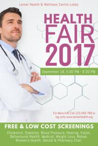 Health Fair 2017 Poster Template
