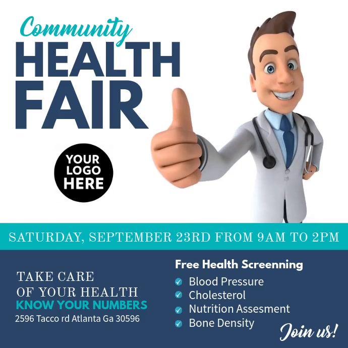 Health Fair Publicación de Instagram template