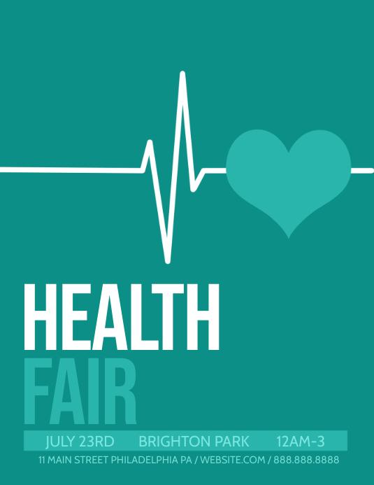 Health fair Volante (Carta US) template