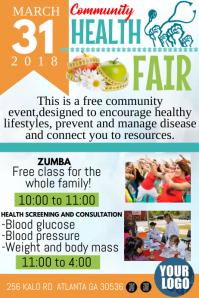 Health Fair Póster template