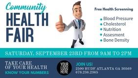 Health Fair Digital Signage Facebook Cover Video (16:9) template