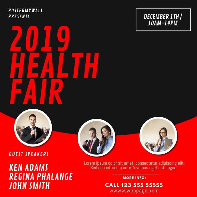 Health Fair Event Video Design Template