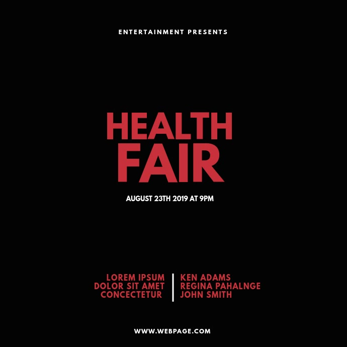Health Fair Expo Video Design Template Square (1:1)