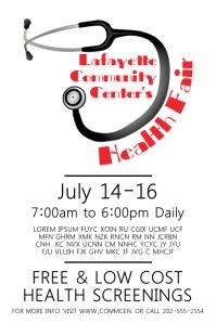 free health fair flyer templates