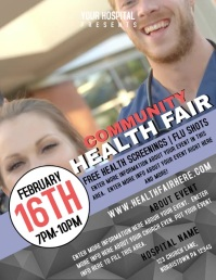HEALTH FAIR Flyer (US Letter) template