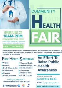 health fair flyer template A4