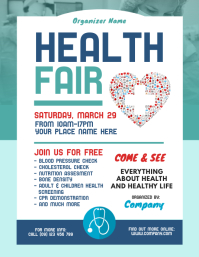 Health Fair Flyer Template Pamflet (VSA Brief)