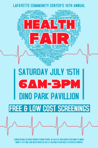 2,660+ Customizable Design Templates for Health Fair | PosterMyWall