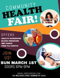 health fair sleep consultant logo beauty healthy cooking flyer template