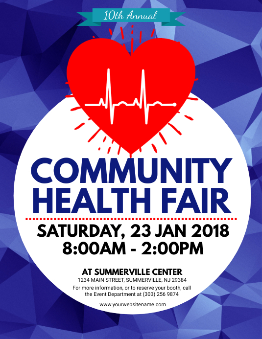 Health Fair Flyer Volante (Carta US) template