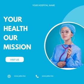 Health flyer Publicação no Instagram template